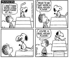 Image result for snoopy quotes on hockey