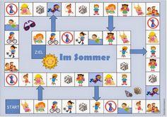 """Ideenreise: Großes Materialpaket """"Sommerliche Aktivitäten"""" für DAZ English Games, Kids English, Summer Activities, Preschool Activities, Kindergarten Classroom Games, Sensory Games, Name Crafts, Languages Online, German Language Learning"""
