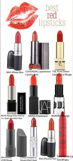 Top 10 Red Lipsticks.
