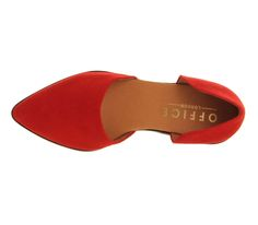 Office Kandy Point Two Part Red Suede - Flats