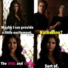 Love this scene Tv Quotes, Movie Quotes, Famous Quotes, Vampire Diaries Memes, Vampire Diaries The Originals, Kathrine Pierce, Nathan Scott, Favorite Tv Shows, My Favorite Things