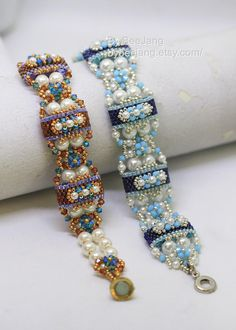 Tutorial - Deepika Carrier Beads Bracelet. You will receive two PDF files. One file is a step by step instruction how to make this bracelet. The second file is basic odd count peyote for carrier bead. Both tutorials will include photos, figure/diagram along with my explanation. Although I