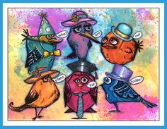 anjas-artefaktotum: Adventurous Crazy Birds with new Crazy Hats / Abenteuerlustige Crazy Birds mit neuen Crazy Hüten