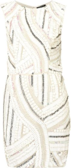 Topshop Sequin Shift Dress