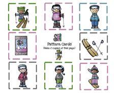 Ski+8+pattern+cards.jpg 1 600×1 236 pixels
