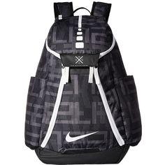 Nike Hoops Elite Max Air Backpack (Black Black White 1) Backpack Bags ( 90)  ❤ liked on Polyvore featuring bags, backpacks, nike bags, zip bag, ... d17a1bda3c