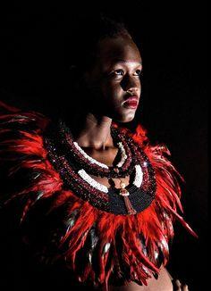 Heart 365 Emporium - about 365 beads per string. Neck piece by tasmanian jewellery designer Jacqueline Kibacha. Uhurus Wings