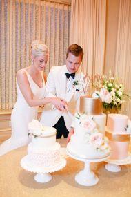Romantic Blush + Gold Ballroom Wedding in Oklahoma - Style Me Pretty