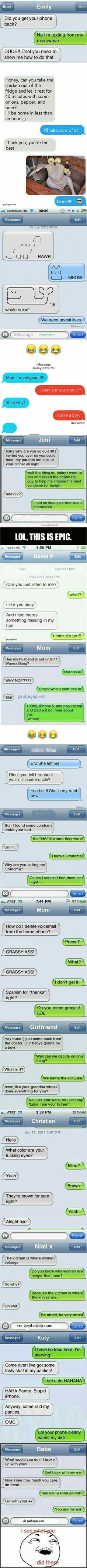 Top 15 Hilarious Text Messages