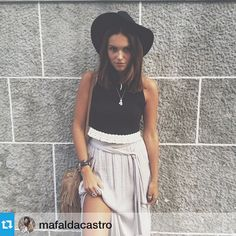 Repost from @mafaldacastroo , blogger at Last Time Around, wearing her @pinlovelybreeze Stone pendants!