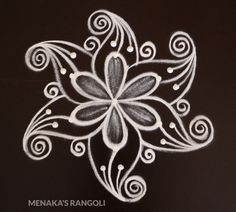 Very Easy 3 Dots Kolam Design Simple Rangoli Border Designs, Rangoli Simple, Rangoli Designs Latest, Rangoli Designs Flower, Free Hand Rangoli Design, Small Rangoli Design, Rangoli Patterns, Rangoli Ideas, Rangoli Designs With Dots