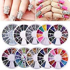 Wheels nail art decor accessories Nail Rhinestones Premium Manicure Nail Art Decorations Nail Tools -- You can get additional details at the image link. (This is an affiliate link) Beach Nail Art, Beach Nails, Gem Nails, Nail Manicure, Pedicure, Nail Gems, Nail Ring, Nail Art Rhinestones, Rhinestone Nails