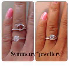 Ring wrap - Half halo!!! I FREAKING LOVE THIS ONE OMG Luxury 1.35 Carat Round Cut Fine Platinum by SymmetryJewellery