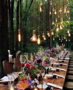 Bohemian Wedding Reception, Bohemian Wedding Decorations, Wedding Table, Rustic Wedding, Decor Wedding, Wedding Receptions, Bohemian Weddings, Whimsical Wedding, Country Weddings