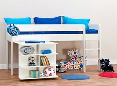 Purchase a Stompa Uno 1 - Cabin Bed at Room To Grow. We offer price match availability on the Stompa Uno 1 - Cabin Bed & free delivery available White Mid Sleeper, Mid Sleeper Bed, Home Bedroom, Bedroom Furniture, Bedroom Ideas, Kids Bedroom, Bedrooms, Cabin Bed With Desk, Childrens Cabin Beds