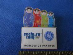 2014 Sochi Olympic Pin GE General Electric Sponsor Nesting Dolls | eBay