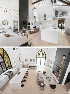 Church Transformed Into Modern Family House in Chicago 1