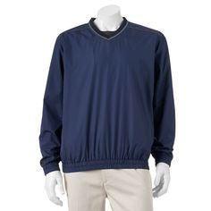 Men's Grand Slam Classic-Fit Performance Windbreaker Golf Jacket, Size: Medium, Med Blue