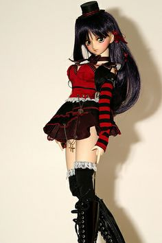 #Goth Lolita Punk dress-up doll by DD