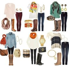 Fall boots outfits - can't wait to rock boots!!