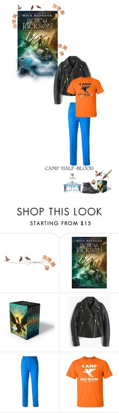 """""""Percy Jackson & the Olympians"""" by fashionqueen76 ❤ liked on Polyvore featuring Camp, J.Crew, CÉLINE, percyjackson, books and bookchara"""