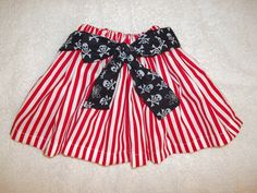 Pirate costume Skirt dress up Halloween red stripe black by MM4CC, $19.50 Bought this for our cruise. Love it