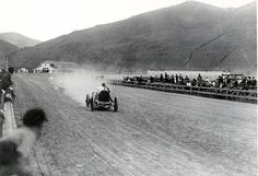 1914 missoula, montana - barney oldfield (benz), barnstorming show