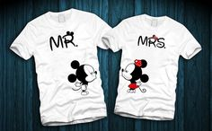 Mickey and Minnie Couples Shirts Disney by FerskaShirtsAndGifts