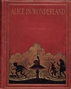 Alice in Wonderland (Illustrator: Hudson, 1922?) Cover - via lourania