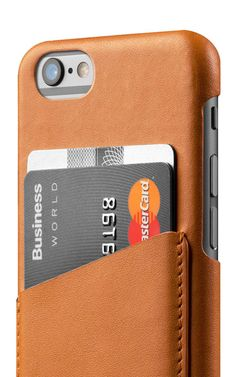 Leather Wallet Case for iPhone 6 - Tan - Mujjo-SR
