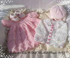Baby Knitting Patterns and Reborn Dolls Knitting Patterns. (Precious Newborn Knits Ref: You are NOT purchasing the knitted clothes or the reborn doll . To knit the set you will require approx of Baby Double Knitting Yarn. Jumper Knitting Pattern, Baby Knitting Patterns, Knitting Designs, Baby Patterns, Doll Patterns, Baby Doll Clothes, Baby Dolls, Knitting For Kids, Hand Knitting