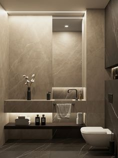 """""""Browse photos of Small Bathroom Tile Design. Find suggestions and inspiration for Small Bathroom Tile Design to add to your house. Washroom Design, Bathroom Design Luxury, Bathroom Layout, Modern Bathroom Design, Modern Interior Design, Modern Toilet Design, Modern Bathrooms, Bathroom Ideas, Toilet Tiles Design"""