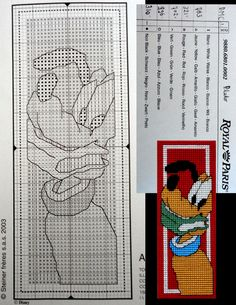 This is a pattern of a bookmark of Royal Paris that is no longer for sale.
