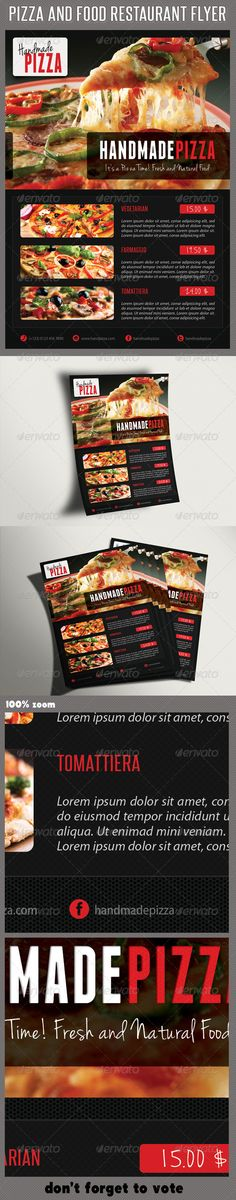 Food And Pizza Menu Flyer 02