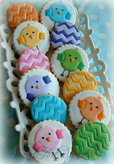 Easter cookies chick and chevron egg cookies 1 by SweetArtSweets #eastercookies #easter cookies