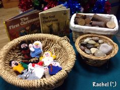 "Provocation to tell the Christmas story with finger puppets - from Rachel ("",)"