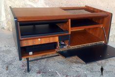 meuble vintage teck radio d tourn philips ann es 70 vintage scandinave industriel. Black Bedroom Furniture Sets. Home Design Ideas