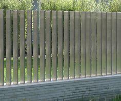 Modern steel fence