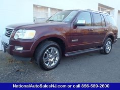 Model: 2006 Ford Explorer   Price: $13,995   COLOR    Dark Cherry Metallic /Black    MILES    146,661    Engine    4.6 ci    Trans    6-Speed A/T    Stock #    S060783    VIN    1FMEU75836UA00783      If Interested call National Auto Sales today (856) 589-2600 Ask for Bill
