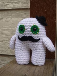 Mr Swanson the amigurumi monster by AmigurumiByAli on Etsy, $35.00