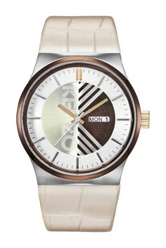 Love the dual faceplate here! Also easy reading of day and date when needed!  - #kenzo #watch #jewelry #affiliate #oybpinners #wristwatch