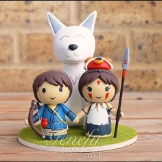 Cute cartoon wedding cake topper Bride and by GenefyPlayground ...