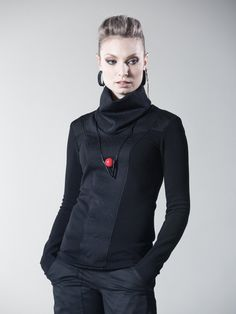 Cyberpunk sweater with long sleeves thumb holes. Edgy and unique design inspired by Sci Fi. This jumper is so comfortable you will want to…