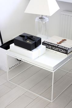 Homevialaura | Louis Vuitton coffee table book | white Hay Tray Table | white floor