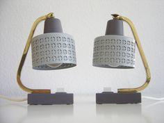 2 x Lovely MID CENTURY MODERN Bedside Table Lamps   Lights   Arteluce   Stilnovo   Mategot Era 1950s