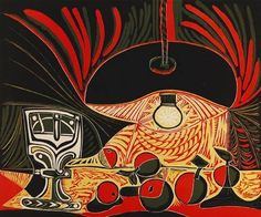 Nature Morte au Verre Sous La Lampe linocut by Picasso. Buy Picasso prints at Guy Hepner Gallery in New York City, Etchings, linocuts, lithographs. Pablo Picasso, Art Picasso, Picasso Paintings, Picasso Still Life, Picasso Prints, Cubist Movement, Art Fund, Georges Braque, Spanish Artists