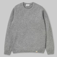 Shop the Carhartt WIP Script Embroidery Sweatshirt from the offical online store. Nylons, Carhartt Workwear, American Casual, Carhartt Wip, Heather White, Models, Sport, Cashmere Sweaters, Grey Sweater