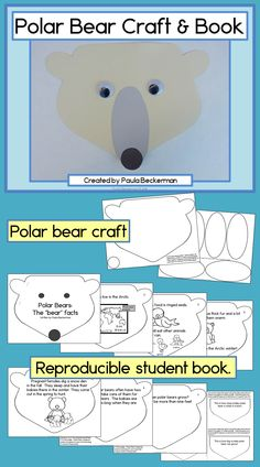 This is an adorable non-fiction text your students are sure to love! They make a polar bear craft and use it for the cover of their book - I'm adding this to my lesson plans! TpT$
