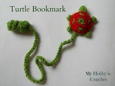crochet turtle bookmark free pattern