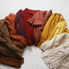 Packed away all my summer clothes and pulled out all my cosy knits today. Absolutely obsessed with this autumn colour palette. Summer Clothes, Summer Outfits, Colour Story, Fall Color Palette, Autumn Colours, Warm Spring, My Wardrobe, Color Inspiration, Cosy